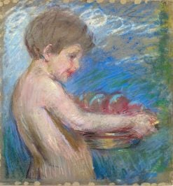 Child with Fruit | Alice Pike Barney | Oil Painting