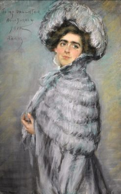 Laura Alice in Grey | Alice Pike Barney | Oil Painting