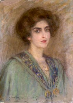 Laura in Green Cape | Alice Pike Barney | Oil Painting