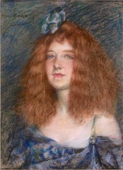 Woman with Red Hair | Alice Pike Barney | Oil Painting