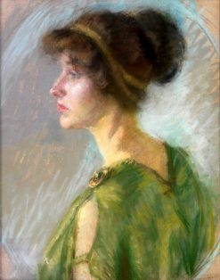 Young Woman in Green | Alice Pike Barney | Oil Painting