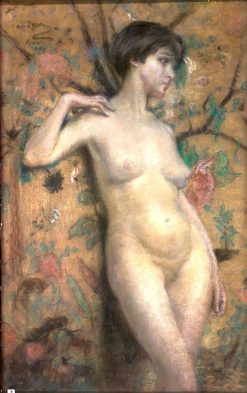 Nude against Screen | Alice Pike Barney | Oil Painting