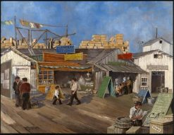 Wharf Markets | Victor Hugo Basinet | Oil Painting