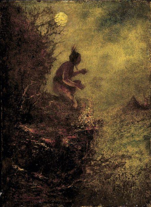 The Signal Fire   Ralph Albert Blakelock   Oil Painting
