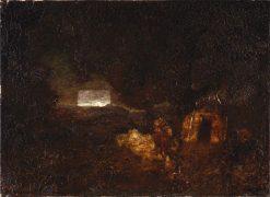 The Canoe Builders | Ralph Albert Blakelock | Oil Painting