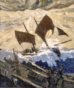 An Incident on the English Channel | Max Bohm | Oil Painting