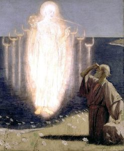 Vision de Saint Jean a Patmos | Ethel Isadore Brown | Oil Painting
