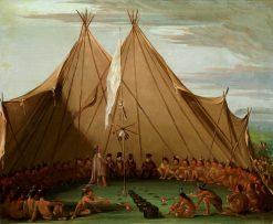 Sioux Dog Feast | George Catlin | Oil Painting