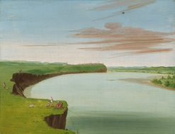 Distant View of the Mandan Village | George Catlin | Oil Painting