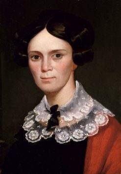 Portrait of a Woman   George Catlin   Oil Painting