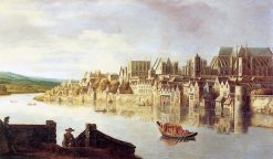The Thames at Westminster Stairs | Claude de Jongh | Oil Painting