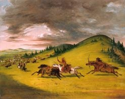 Battle Between Sioux and Sac and Fox | George Catlin | Oil Painting