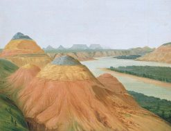 View in the Big Bend of the Upper Missouri | George Catlin | Oil Painting