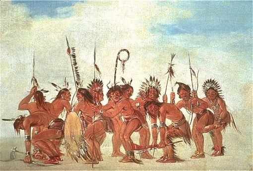 Braves' Dance at Fort Snelling | George Catlin | Oil Painting