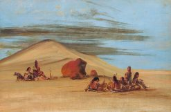 Sioux Worshiping at the Red Boulders | George Catlin | Oil Painting