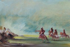 Comanche Giving Arrows to the Medicine Rock | George Catlin | Oil Painting