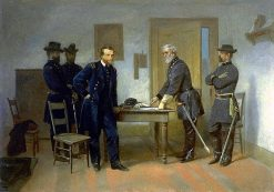 Lee Surrendering to Grant at Appomattox | Alonzo Chappel | Oil Painting