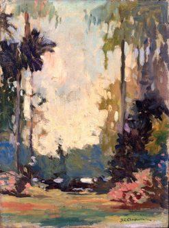 A Florida Park | Joseph C. Claghorn | Oil Painting
