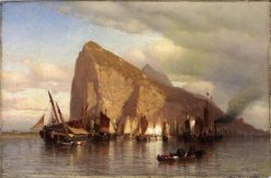 Clearing Storm at Gibraltar | Samuel Colman | Oil Painting