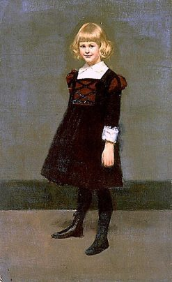 Portrait of a Young Girl   Kenyon Cox   Oil Painting