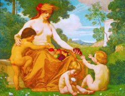 Plenty   Kenyon Cox   Oil Painting