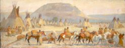 Blackfoot Camp Scene | Edwin Willard Deming | Oil Painting