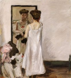 Half Undressed in front of the Mirror   Pierre Bonnard   Oil Painting