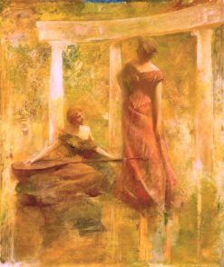 Music | Thomas Wilmer Dewing | Oil Painting
