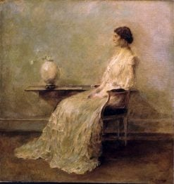 Lady in White (No. 2) | Thomas Wilmer Dewing | Oil Painting