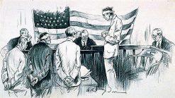 The Court Room Scene | Arthur Dove | Oil Painting