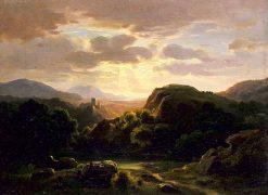 Remembrances of a Scene near Auerbach   Robert Seldon Duncanson   Oil Painting