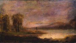 Landscape with Lake   Robert Seldon Duncanson   Oil Painting