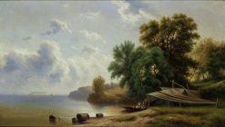 Landscape with Campsite   Robert Seldon Duncanson   Oil Painting