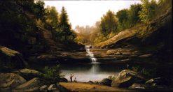 Mountain Pool   Robert Seldon Duncanson   Oil Painting