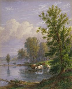 Watering Cows | William Rickarby Miller | Oil Painting