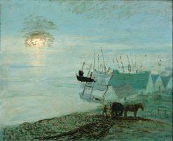 Beach Scene   John Noble   Oil Painting