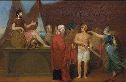 Quarrel of Achilles and Agamemnon | William Page | Oil Painting