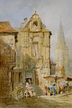 Marketplace at Bruges | Samuel Prout | Oil Painting