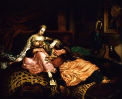 Interior Scene with Sultan and Concubine | Thomas Buchanan Read | Oil Painting