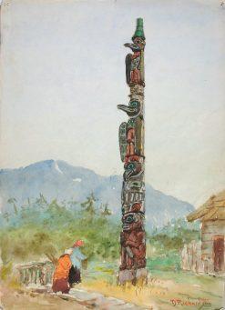 The Raven Totem Pole | Theodore J. Richardson | Oil Painting