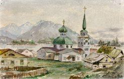 Rear View of Greek Church