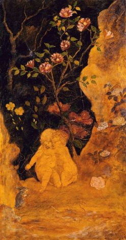 Panel for a Screen: Children Frightened by a Rabbit | Albert Pinkham Ryder | Oil Painting