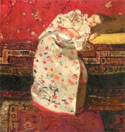 Girl in a White Kimono | George Hendrik Breitner | Oil Painting