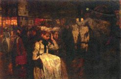 Dom Square at Night | George Hendrik Breitner | Oil Painting
