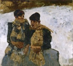 Two Girls in the Snow | George Hendrik Breitner | Oil Painting