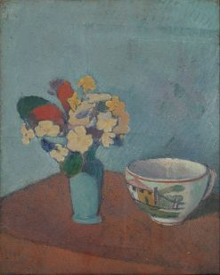 Vase with Flowers and Cup | Emile Bernard | Oil Painting