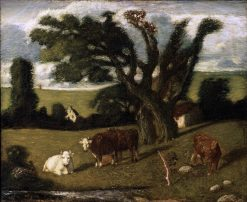Pastoral Study   Albert Pinkham Ryder   Oil Painting