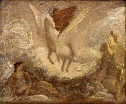 Pegasus Departing | Albert Pinkham Ryder | Oil Painting