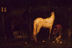 In the Stable | Albert Pinkham Ryder | Oil Painting