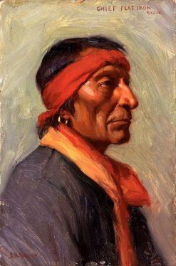Chief Flat Iron | Joseph Henry Sharp | Oil Painting